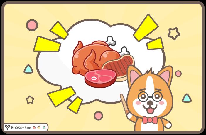 狗狗可以吃豬肉 / 牛肉 / 雞肉嗎