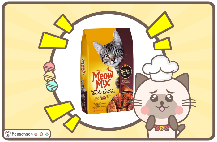 Meow Mix Tender Center 貓飼料評價